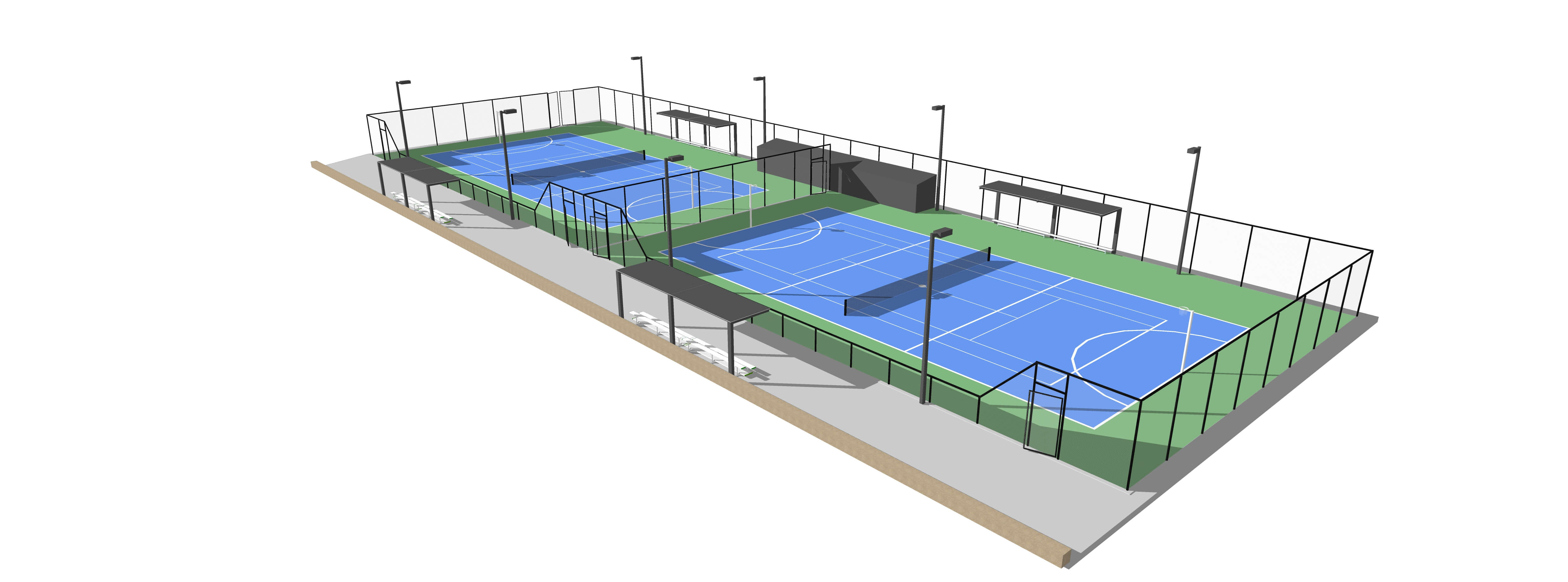 3D visualisation of tennis courts