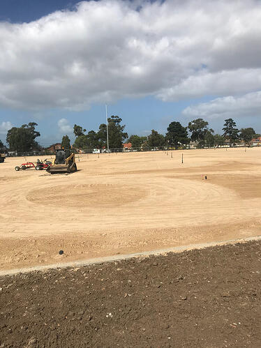 Sand carpet levelled and ready to grass