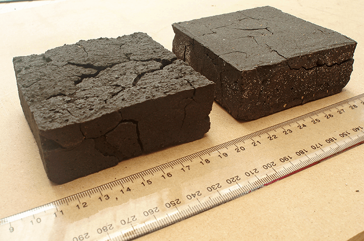 Examples of wicket clay soils shrinkage and cracking.